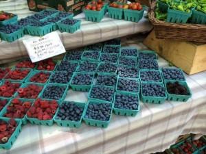 market fresh blueberries
